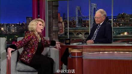 莱特曼深夜秀 毒舌老奶奶Joan Rivers做客深夜秀讲述奥斯卡之夜