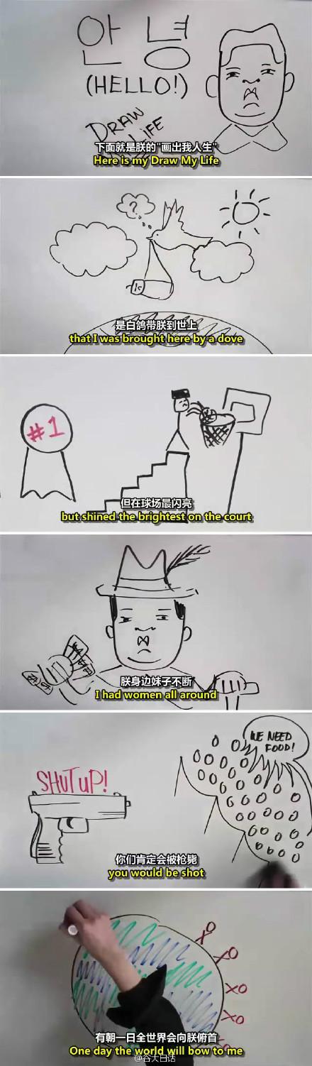 《画出我人生》(Draw My Life)【双语字幕】·金三胖版