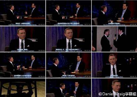 吉米鸡毛秀 2012.11.09 Daniel Craig做客宣传Skfall
