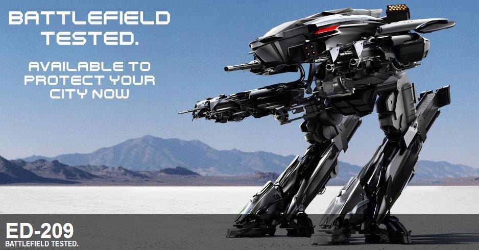 机械战警RoboCop(2013)病毒宣传视频之新版XT-908&ED-209